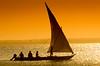 Sailing on a sunray (Beppe Rijs) Tags: africa afrka insel island sansibar tansania tanzania sun sundown light sail ray dugout