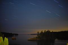 Star Trails Over the Cove (BlueShift 12) Tags: longexposure night stars ocean water maine coastal canoneos5dmarkii rawtherapee