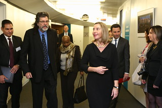 Mogherini and Abel Prieto, Former Cuban Minister for Culture, October 2017