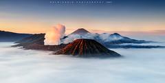 Sunrise at mount Bromo (©Helminadia Ranford) Tags: bromo mountain volcano volcanic trip travel nature trekking smoke eastjava indonesia