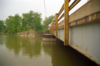 View from a Bridge Pile on River Canard