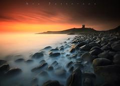 Ghostly Veil (Stu Patterson) Tags: stu patterson sunrise dunstanburgh castle northumberland seascape