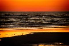 Sunset at Sunset Beach (pete4ducks) Tags: sunset on1pics oregon water sky waves pacificocean orange sun 2017 summer black coastline seascape manzanita sunsetbeach