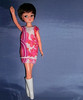Vintage shift dress (skipscales) Tags: pedigree sindy 1960s 1970s shift dress pink white boots brunette rikrak doll indoors