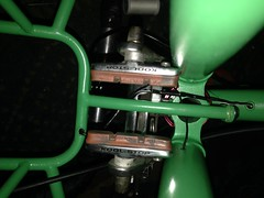 Fork crown wire junction (Tysasi) Tags: wiring internalwiring 3speedprojectframe ighprojectbike randonneuse randonneur bike 700c fixie fixedgear s3xhub sturmeyarcher s3x hub