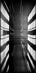 MUC #2 (madmtbmax) Tags: munich münchen art kunst city scene urban achitecture architectural artist artistic creative surrounding evening night dark low light concrete metal distruptive style stil architekt germany lobby academy bw sw black white schwarz weiss nero bianco blanco negro svart vit mv musta valko taide stadt nikon d700 abstract form shape blackandwhite