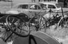 Rusty Cars (walkerross42) Tags: rust cars wagon steeringwheel shaniko oregon ghosttown abandoned monochrome blackandwhite