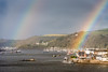 Twice Blessed (Rookie Phil) Tags: daytime outdoor autumn autumnshower rainbows tworainbows devon riverdart dart river boats ferries yachts moorings pontoons buoys kingswear hills rollinghills woods woodedhillside buildings watersidebuildings rainshower liquidsunshine rainbowcolours picturesque riversideproperties architecture scenic panorama 2401200mmf40 d750 nikond750 dartmouthhigherferry dartmouthlowerferry dartmouthpassengerferry