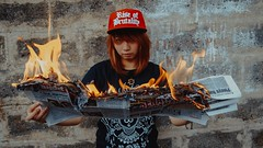 IMG_5913-3 (Niko Cezar) Tags: rise of brutality bag shirt clothing hypebeast modern notoriety aesthetic cinematic art photography canon portrait product shot fire cap