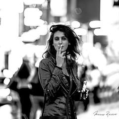 Cigarette & Water (Mario Rasso) Tags: nikon timessquare usa woman mariorasso blackandwhite blackwhite blancoynegro city urban d800