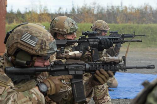 U.S. Airmen conduct live fire training aboard Joint Base Elmendorf-Richardson, Alaska