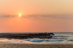 Rocky Sunrise Seascape (Merrillie) Tags: daybreak rockshelf sand landscape northavocabeach headland avocabeach sunrise newsouthwales rocks centralcoast nsw earlymornings beach scenery sea rocky dawn seascape nature outdoors waterscape rockplatform coast water australia