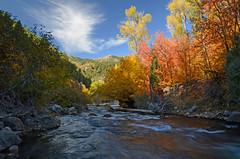 Logan River 472 (photo61guy) Tags: utah autumn autumncolors nikond7000 waterflow watermotion waterreflections blueskies fallcolors nature landscape