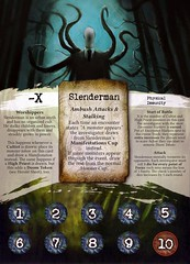 """Slenderman"" - Arkham Horror Great Old One, front side (dizzyfugu) Tags: slender slenderman urban myth horror child abduction lovecraft cthulhu arkham great old one servant race monster board game epic dizzyfugu strange eons"