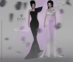 Hope Couture Girls ! <3 (Angels Kristan) Tags: virtual diva couture second life fashion angels kristan tryska moon model winter 2017 avant gard monochromatic