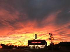 Discount Tire sunrise (f l a m i n g o) Tags: sunrise morning littleton lakewood colorado