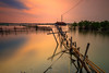 .:: Restricted Zone ::. (omjinphotography) Tags: neighbourhood reflection longexposure diagonal landscape leading lines hyperfocal distance colorful waterscape skyscape sunset lights kitlens rebelt3