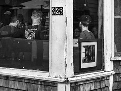 Cafe--Commercial St (PAJ880) Tags: cafe commercial st provincetown ma bw mono street