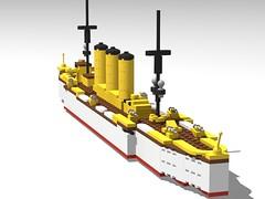 SMS Emden (GBDanny96) Tags: lego moc world war 1 ww1 sms emden light cruiser ship boat battleship military vehicle