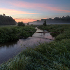 farewell (Sergey S Ponomarev) Tags: sergeysponomarev canon eos 70d efs1018mmf4556isstm landscape paysage paesaggio summer estate july 2017 flow morning dawn mist fog forest woods reflections riflessi kirov vyatka russia russie europe sunrise clouds bridge сергейпономарев природа nature natura country деревня суворовы киров вятка россия лето река пейзаж утро рассвет туман никульчинка июль лес луг трава meadow
