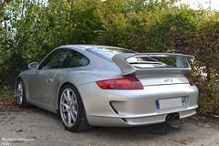 Porsche 911 GT3 997 (Monde-Auto Passion Photos) Tags: voiture vehicule auto automobile porsche 911 gt3 997 coupé gris sportive supercar rare rareté france barbizon