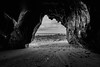 The cave (khan.Nirrep.Photo) Tags: canon canon70d canon1635mm finistère falaise rocks rocher rochers rock seascape sea sable bw bretagne breizh beach