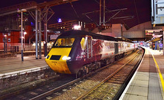 CrossCountry HST_Leeds Station, UK_1S55_081017_01 (DS 90008) Tags: hst crosscountry xc station ecml leeds dieseltraction 1s55 plymouth uk railway networkrail class43s 43384 43378 locomotive locohauled pushpull brb mk3 yorkshire edinburgh engineering railtransport