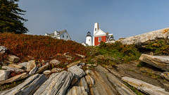 Another Sort of New England Landscape (John H Bowman) Tags: newengland maine lincolncounty townofbristol lighthouses atlanticlighthouses newenglandlighthouses mainelighthouses pemaquidpointlight historic nrhp lightkeepershouses rockycoast september2017 september 2017 canon16354l explore