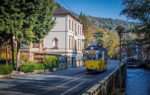 Bad Schandau. Old tram.