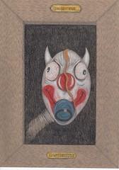 I'm not evil....I was framed ! (Klaas van den Burg) Tags: color penci clown horror sarcasm funny humor pencil haloween