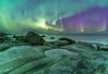 'Aurora On The Rocks' - Lofoten, Norway (Kristofer Williams) Tags: aurora auroraborealis northernlights night sky stars nightscape coast beach rockpool arctic lofoten norway uttakliev rocks sea