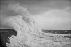 Storm Ophelia 4 (MatthewsCamera) Tags: britain storm stormchasers waves crashing coastline stormophelia ophelia monochrome seascape promenade porthcawl bridgend canon lseries 5d