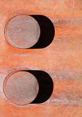 Photo Finish (studioferullo) Tags: abstract architecture art beauty bright colorful colourful colors colours contrast dark design detail downtown edge light metal minimalism outdoor outside perspective pattern pretty rust scene shadow study sunlight sunshine street texture tone weathered world tucson arizona sculpture iron purple orange circle round pair lines
