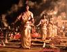 Aarati (evening Prayer to River Ganga), Varanashi India (senguptapulak) Tags: varanashi dashaswamedh ghat aarati smoky prayer ganges canon night shot spiritualism old indian tradition
