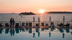 Swimming Pool Sunset at Hotel Dubrovnik Palace - Dubrovnik, Croatia (ChrisGoldNY) Tags: chrisgoldphoto chrisgoldny chrisgoldberg forsale licensing bookcovers bookcover albumcover albumcovers sony sonyimages sonya7rii croatia croatian adriatic easterneurope europe european eu adriaticsea dalmatia dalmatian dalmatiancoast dalmatinska swimmingpool pools swimmingpools dubrovnik hoteldubrovnikpalace hotels hotelchatter travel vacation couples silhouettes reflections umbrellas chairs deckchairs sunlight challengewinners friendlychallenges unanimous sweep beach beaches playa
