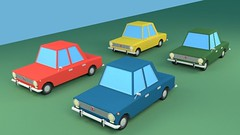 Low Poly Cartoon VAZ 2101 (Cars) (hypesol) Tags: automobile blue car cartoon city fiat green kopeyka lada lowpoly mashina red russian sedan soviet stylized ussr vaz vehicle yellow zhiguli