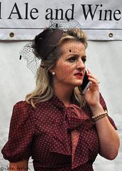 NYMR 1940's Weekend (2017) 036 - I've found it!!! (Row 17) Tags: england yorkshire pickering nikon candid portrait people women woman reenactment reenactor reenactors 1940s event