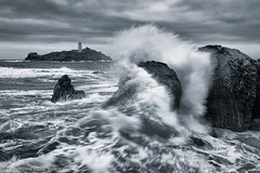 Stormy Godrevy (Dave Kiddle LRPS) Tags: david atlantic coast cornwall godrevy lighthouse rough sea storm stormy waves davekiddle davekiddlephotography kiddle davidkiddle davidstephenkiddle