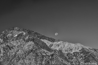 Fall Colors - Morning Moon Above Mount Tom