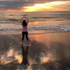 ✨ Good Morning World ☀️ (staceygallagher2) Tags: sky warm heat photography nature scenic ocean sea beach holiday america morning florida sun sunrise