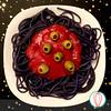 Halloween Spaghetti (twofoodies) Tags: black dinner easy halloween kids spaghetti negro cena fácil nochedebrujas niños espaguetti