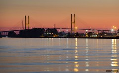 Sundown Over The Alex Fraser (Clayton Perry Photoworks) Tags: vancouver bc canada fall autumn explorebc explorecanada newwestminster bridge sunset alexfraserbridge fraserriver