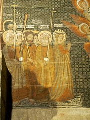P9060459 (simonrwilkinson) Tags: salamanca castileandleón spain oldcathedral interior thechapelofsanmartín tomb c13th fresco chapel lastjudgement