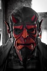 better the devil (werewegian) Tags: galoshans festival twoworldsmeet exhibition greenock tobacco warehouse werewegian oct17 devil mask jasonorr