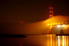 foggy reflection (sculptorli) Tags: fog reflection goldengate bridge sanfranciscobay goldengatebridge california marin unitedstates lowfog nightreflection cloud brücken bridges landscape 旧金山 金门大桥 金门 金门桥 金門大橋 pont 舊金山 加州 雾 nebel niebla nebbia туман foggyreflection