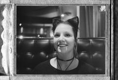 Candice (dvlmnkillatron) Tags: film polaroid polaroidland250 fp3000b peelapart instantfilm bw champaign guidos bokeh halloween