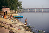 Yamuna (Mathijs Buijs) Tags: bathing river yamuna bridge delhi northern india asia canon eos 7d polluted