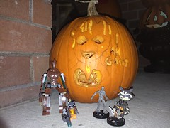 We Are Groot (splinky9000) Tags: kingston ontario halloween 2017 guardians of the galaxy vol 2 baby groot pumpkin i am we are toys rocket racoon lego minifigures heroclix funko mystery mini