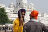 Sikh Guards - Golden temple - Amritsar (waex99) Tags: 2017 amritsar inde india leica m262 octobre penjab punjab famille vacances man sikh guard golden temple goldentemple summicron travel voyage