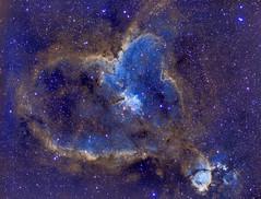 IC1805 Heart Nebula (Hubble Palette) (eBear Foto) Tags: heart nebula stars astrophotography ic1805 nightphotography astro astrometrydotnet:id=nova2260698 astrometrydotnet:status=solved